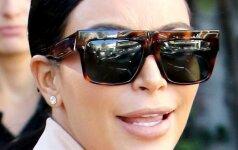 Drąsu: nėščia ir nuoga Kim Kardashian