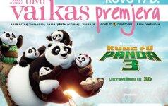 TAVO VAIKAS premjeroje - KUNG FU PANDA 3