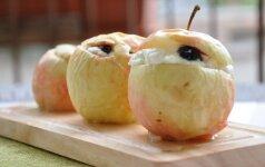 Obuoliai su varške: paprasta, gardu ir sveika