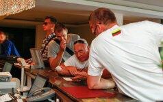 Команда Литвы на сборах в Паланге