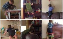 NEREALIAI: Eglė nufilmavo sūnų, turintį kaskadininko talentą (VIDEO)