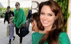 Žvaigždės be stilistų: kaip Angelina Jolie atrodo realiame gyvenime