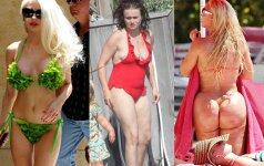 Damos, geriau apsirenkit! Blogiausiai atrodantys žvaigždžių bikiniai