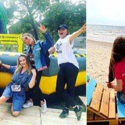 """""""Karklės"""" festivalyje apsilankiusi PANELĖS komanda aktyviausioms festivaliautojoms negailėjo prizų (FOTO)"""