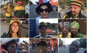 Pasaulio futbolo čempionato svečiai atsako į klausimus apie Lietuvos rinktinę