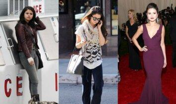 Palygink: kaip Selena Gomez rengiasi pati, o kaip ją papuošia stilistai (FOTO)