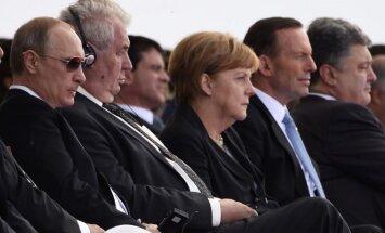 Vladimiras Putinas, Milošas Zemanas, Angela Merkel, Petro Porošenka