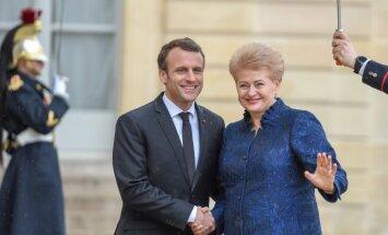 Emmanuelis Macronas ir Dalia Grybauskaitė