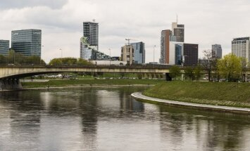 Vilnius new office town from Green Hall Photo