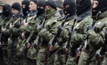 Russia's soldiers (green men) without insignias in Crimea