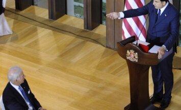 JAV viceprezidento J.Bideno garbei skirta kviestinė vakarienė Gruzijos prezidento M.Saakašvilio rezidencijoje