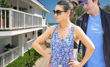 Kas slepiasi už prabangių Milos Kunis ir Ashtono Kutcherio namų durų