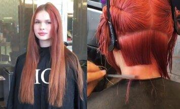 Įvertink kardinalius šukuosenos pokyčius : ar mergina buvo gražesnė prieš, ar po