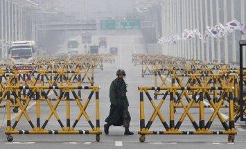 Tiltas netoli sienos su Šiaurės Korėja