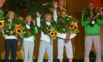 Olimpiečių sutikimas Vilniaus Rotušėje