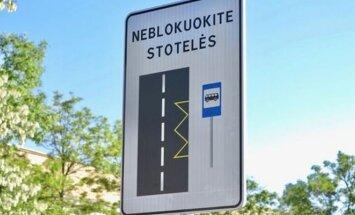 Sostinėje įdiegiamas naujas eismo ženklas
