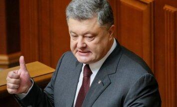 Petro Porošenka skaito  metinį pranešimą Aukščiausioje Radoje