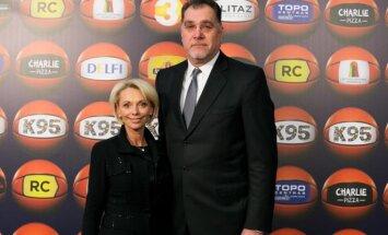 Arvydas Sabonis su žmona