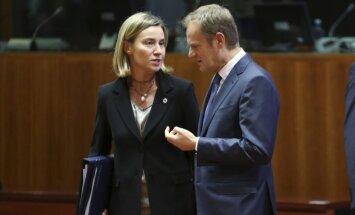 Federica Mogherini, Donaldas Tuskas, Europos Vadovų Tarybos viršūnių susitikime