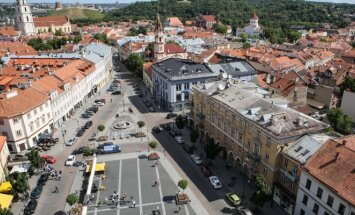 Town Hall Square in Vilnius is the site of the Belarusian rally