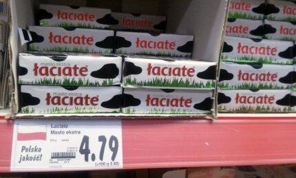Produktų kainos Lenkijos parduotuvėje
