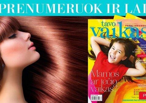 """Prenumeruokite TAVO VAIKĄ ir laimėkite SPA procedūrą plaukams <sup style=""""color: #ff0000;"""">(rezultatai)</sup>"""