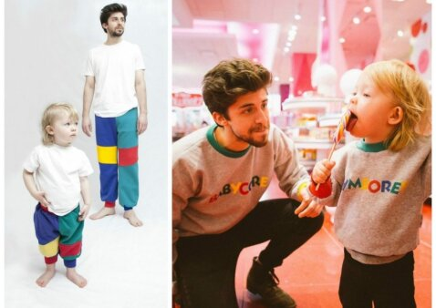 """Nauja mada: kūdikių rūbų kopijos suaugusiems <sup style=""""color: #ff0000;"""">(FOTO)</sup>"""