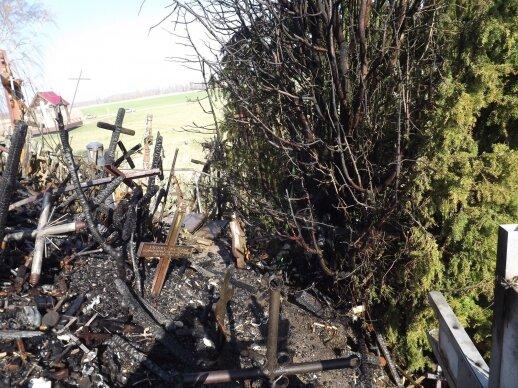 Полиция ищет людей, которые ставили кресты на выгоревшем участке Горы крестов