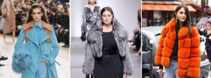 Kaip žiemos aprangą stilingai paįvairinti madingaisiais kailiais
