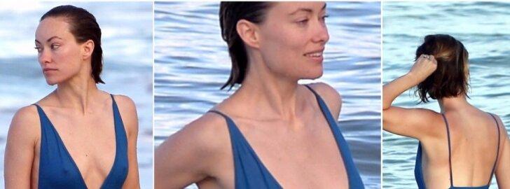 COSMO karštis: Olivia Wilde parodė nepriekaištingas kūno linijas