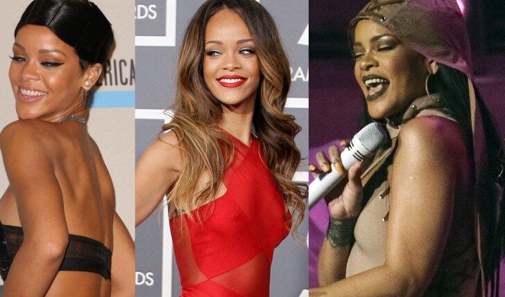 Pilnesnes formas demonstruojanti Rihanna - moteriškėja ar apsileido?(FOTO)
