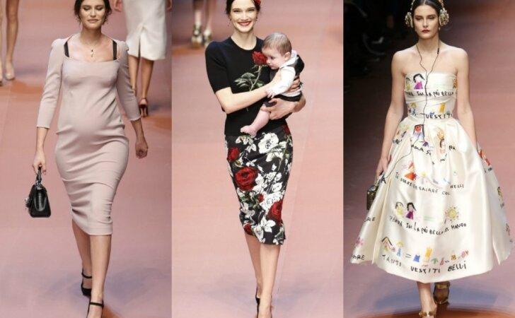 """""""Dolce & Gabbana"""" savo kolekcija pagerbė viso pasaulio mamas <span style=""""color: #ff0000;""""><sup>(FOTO)</sup></span>"""