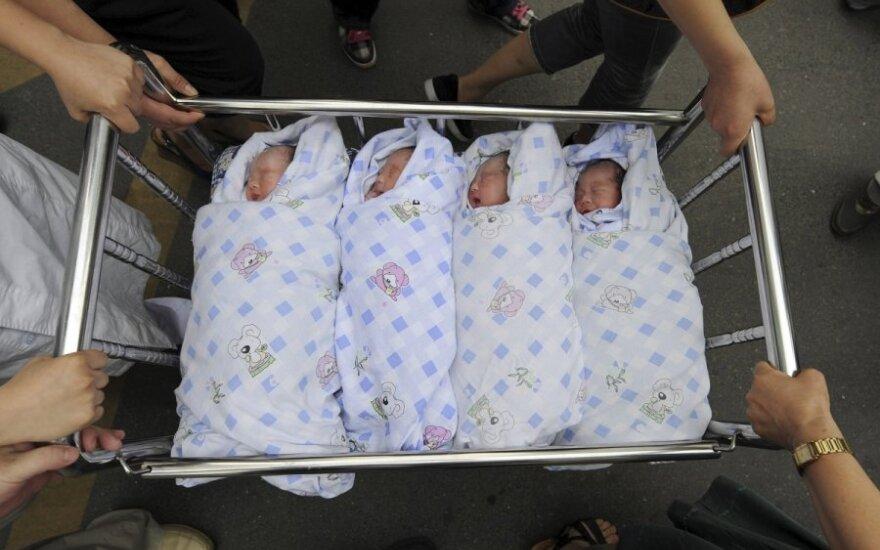 naujagimis, kūdikis, ketvertukas