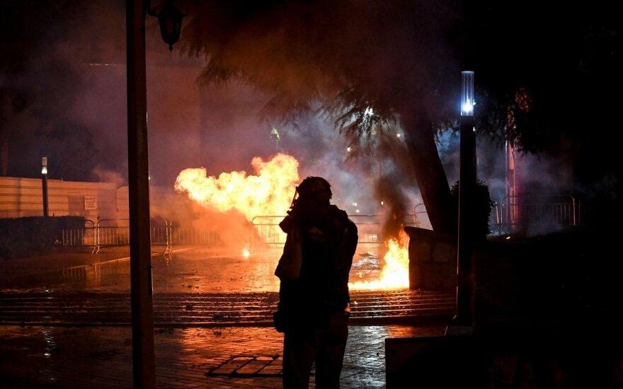 Albanijos sostinę sudrebimo dar viena opozicijos protestų banga