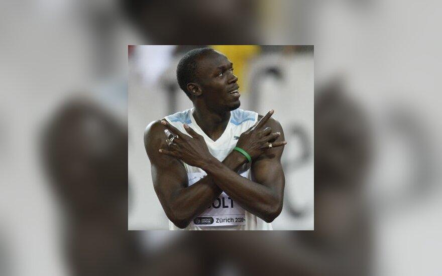 Болт установил рекорд на необычной дистанции