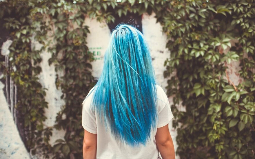 Mėlyni plaukai