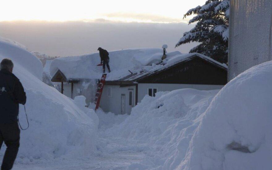 На Аляске - сильнейшие снегопады