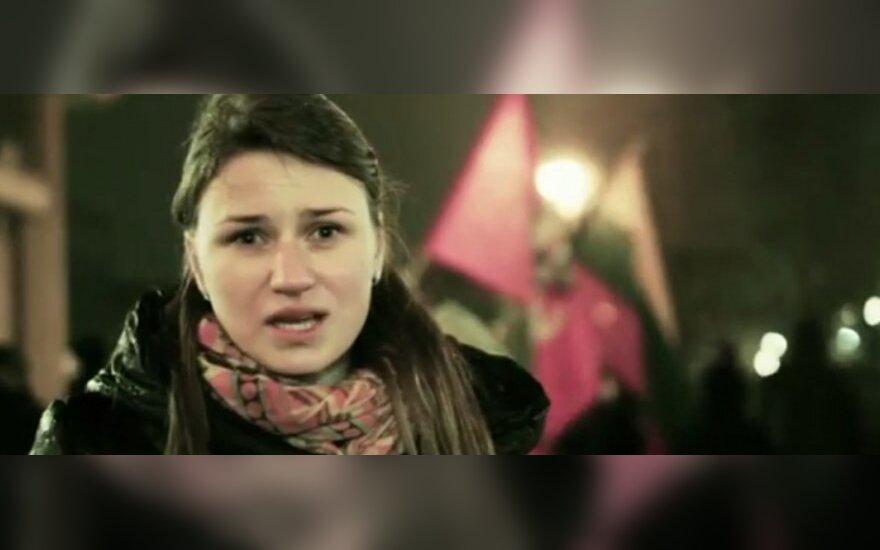 В обращении литовки - поддержка Литвы Майдану