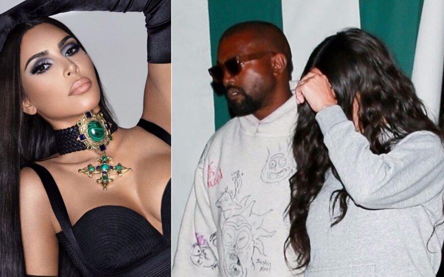 Kim Kardashian be makiažo