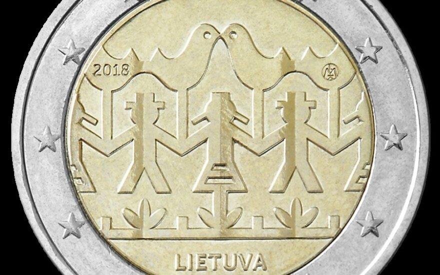 Центробанк Литвы выпустил 2-евровую монету, посвященную Празднику песни