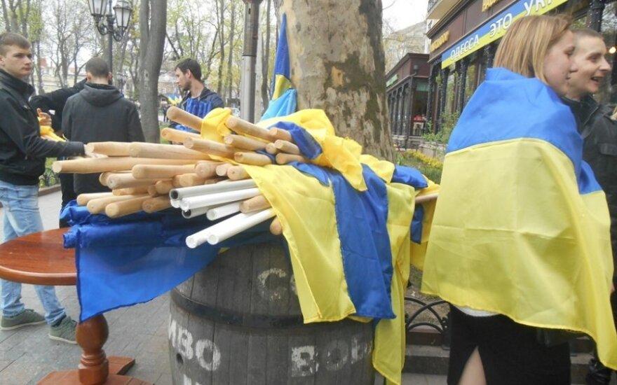 В день освобождения города от фашистов в Одессе вывесили 30 000 флагов Украины