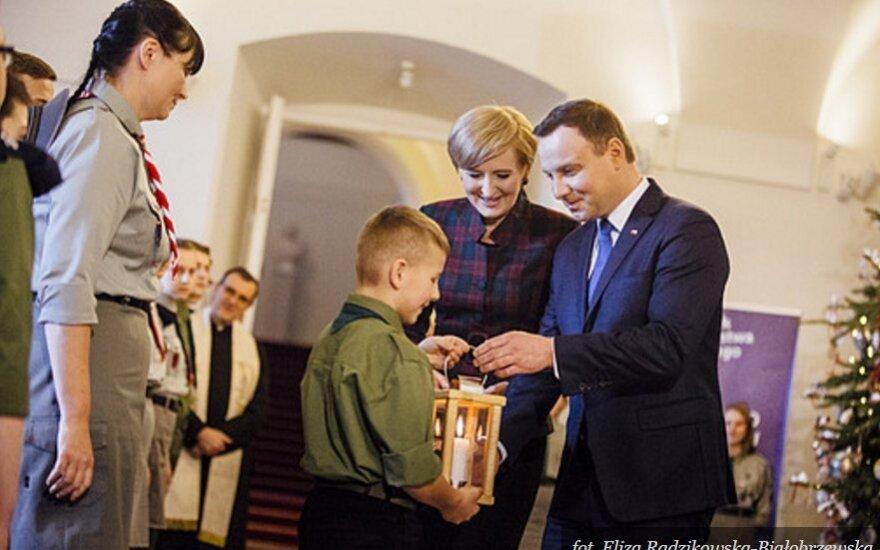 Betlejemskie Światło Pokoju w Pałacu Prezydenckim. Foto: prezydent.pl