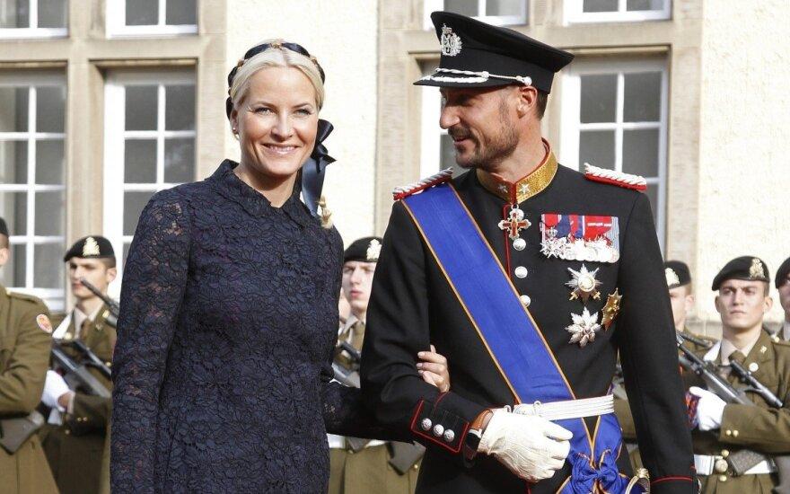 Norvegijos pricesė Mette-Marit  ir kronprincas Haakonas