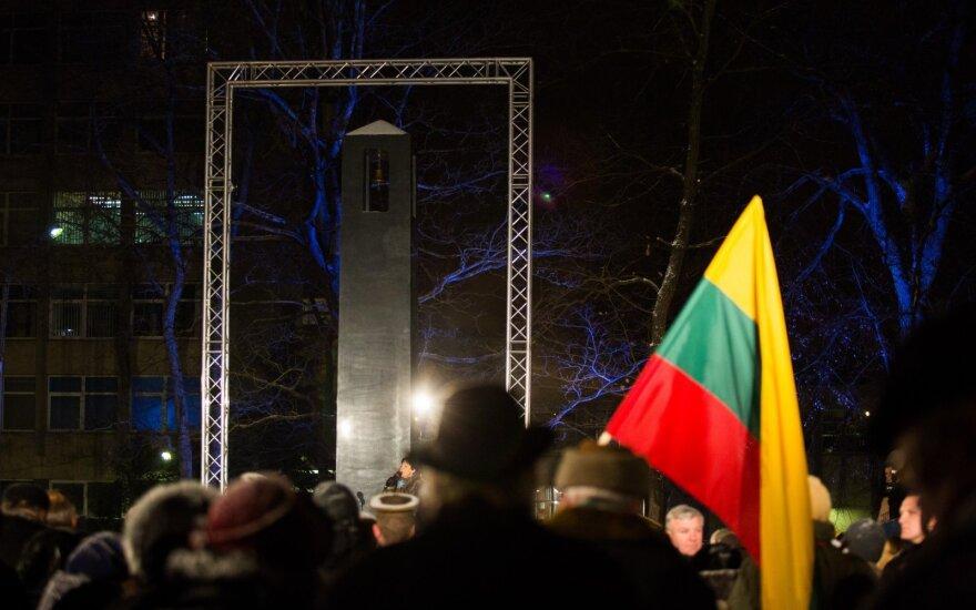 Sausio 13-osios memorialo iškilmingas atidarymas ir atminimo laužų uždegimas