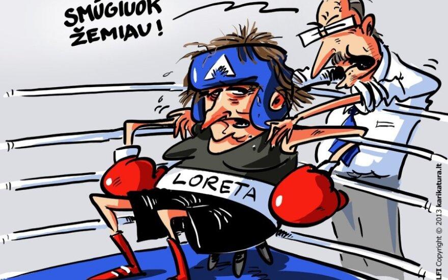 Loreta Graužinienė ir Viktoras Uspaskichas kovoja