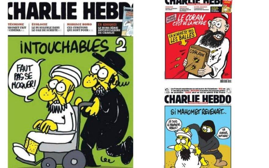 """""""Charlie Hebdo"""" viršeliai"""