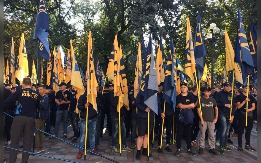 Акции в поддержку ветеранов антитеррористической операции в Киеве