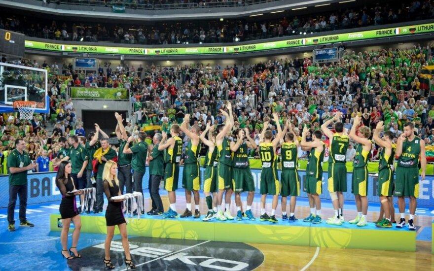 Литовская сборная по баскетболу - вице-чемпион Европы!