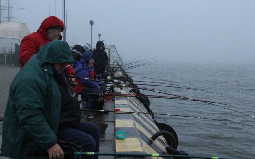 Stintų žvejyba Klaipėdoje jau prasidėjo