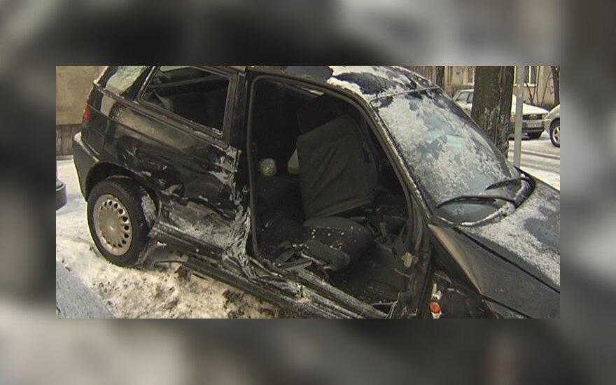 В Вильнюсе в аварию попало такси